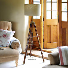 Classic Vintage Tripod Wooden Tripod for Home Decor Shade Lamp, Floor Lamp