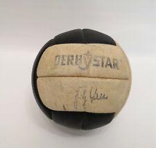 Sehr alter Derbystar Fussball mit Fritz Walter Unterschrift signiert 60er Jahre