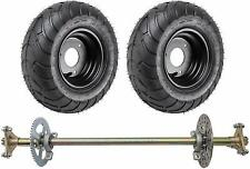 "Go Kart ATV Complete Rear Axle Kit w/ 6"" Rear Wheels Tires Off Road Trike"