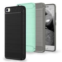 Handyhülle Case für Xiaomi Mi 5 <CARBONFIBRE> Tasche Cover Weich TPU Silikon