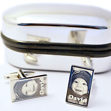 Personalised Cufflinks Photo Engraved Wedding Gift Favour Best Man, Groom, Usher