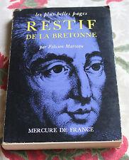 1964 Restif De La Bretonne les plus belles pages Marceau Mercure
