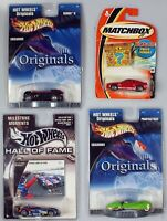 Hot wheels match box lot of 4 cars originals hall of fame mustang deora panoz
