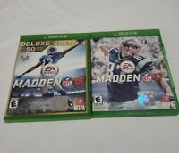 Lot of 2 Xbox One Games Madden 16 Madden 17 NFL Preowned