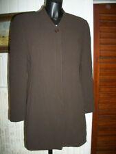 Veste longue  blazer laine et soie marron rayé doublé CERRUTI 1881 42FR 10US
