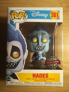 Funko pop vinyl disney villain Hades glitter from Hercules