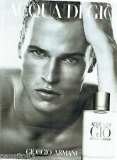 PUBLICITE ADVERTISING 056  2010  Giorgio Armani  eau toilette homme Aqua di Gio