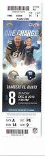 2013 SAN DIEGO CHARGERS VS NEW YORK GIANTS TICKET STUB 12/8/13 ELI MANNING