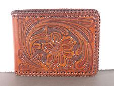 Tooled w/lace Bi-fold Western Bifold Wallet Billfold Bi-fold