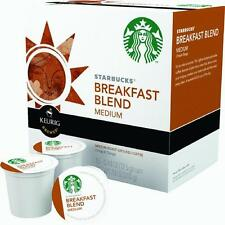 1 Case Keurig K-Cup Starbucks Single/Serv Breakfast Blend Coffee 16 Cups/Case