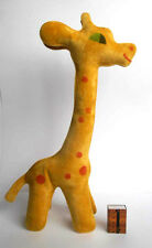 1970s USSR Soviet Estonian INFLATABLE Large Size Toy PLUSH Polymer BABY GIRAFFE