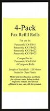 4-pack KX-FA94 Fax Film Refills for Panasonic KX-FB41 KX-FB421 KX-FB422 KX-FB423