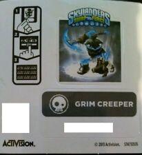 Grim Creeper Skylanders Swap Force Sticker/Code Only!