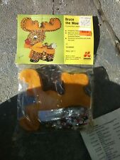 """Vintage Beaded Ornament Kit From Lee Wards """"Bruce The Moose"""""""