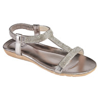Womens Sandals Shoes By Emma Patchouli Pewter strappy sandal Size 3-8 New in Box
