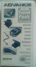 Gameboy Advance GRIGIO KIT da viaggio-GBA LUCE Adattatore caso LINK POWER AUTO
