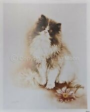 "SARA MOON ""Cat with Flower""  16""x20"" Personally Signed Original Archive Print"