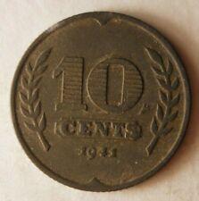 1941 NETHERLANDS 10 CENTS - Great Coin - Free Ship - Premium Vintage Bin #15