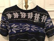 Nike Rundhals Sport Freizeit Athletic Cut T-Shirt T Shirt blau Gr. M 100% Cotton