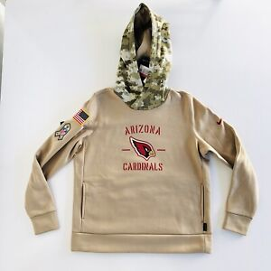 Nike Women's Arizona Cardinals Salute to Service On Field Therma Hoodie Size L