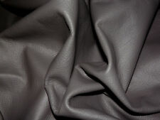 "Soft Dark Gray Cowhide Leather Scraps 8.5""x18"" avg 0.8mm thick #6211"
