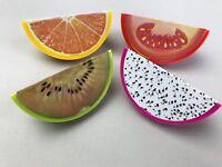 Cute Set of Fruit Shape Pencil Sharpener Kids Stocking Party Loot Bag Filler