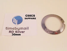 For RADO COUPOLE 30mm Silver SAPPHIRE Watch Glass Crystal New Spare Part C98CS
