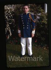 1963 35mm amateur Kodachrome Photo slide Teen Boy Marching Band Uniform #2