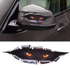 Car Window Funny 3D Simulation Monster Leopard Eye Peeking Sticker Decal
