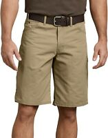 """Dickies 11/"""" Relaxed Fit Lightweight Duck Cargo Shorts RINSED MOSS GREEN DR251RMS"""