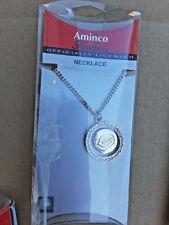 Aminco Officially Licensed MLB Necklace Cincinnati Reds Swarovski Crystals