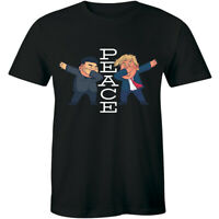 Peace Word And Dabbing politician Funny T-Shirt for Men Gift