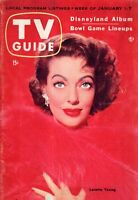 1955 TV Guide January 1- Loretta Young; Pearl River NY; Jackie Gleason; Disney