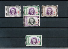 2304 GUINEA 1964 John F. Kennedy superb U/M set, MAJOR VARIETIES: MISSING BLUE