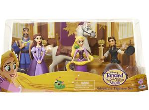 Disney Tangled The Series Adventure Figurine Set PVC Figures Rapunzel Flynn Max