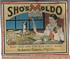 EARLY 1900S SHO'S MOLDO SAND CASTING LEAD TOY SOLDIER MOLD SET IN ORIGINAL BOX