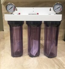 Iron/Sulfur Removal Whole House Water Filter System for Drinking Water Clear