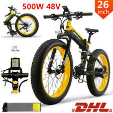 Electric Mountain Bike Electric Bicycle 48V E-Bike Moped Bike w/ Fat Tire 35km/h