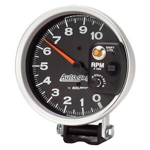 "Auto gage Monster Shift-Lite Tachometer 0-10,000 5"" Dia Black Face 233903"