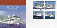 GIBRALTAR 2006 CRUISE LINERS (1ST) SET FIRST DAY COVER