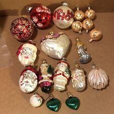 Christmas Ornaments Blown Glass Lot