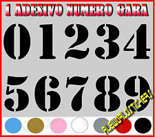 ADESIVO 12 cm NUMERO gara CORSA MOTO GP CROSS Stickers VINILE RACING TUNING AUTO
