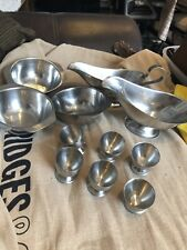 Stainless Steel 2 Sauce Gravy Custard Boat 6 Egg cups 3 Sauce Dishes