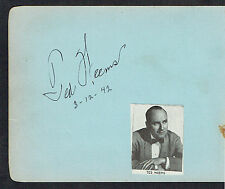 Ted Weems (d. 1963) signed autograph 4x5 Album Page Bandleader & Musician