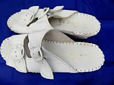 Lady Comfort White Leather Sandals Hand Crafted Made in Italy Sz 38/8B