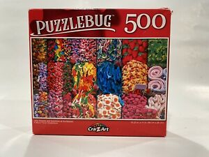 """PUZZLEBUG 18.25""""X11"""" 500 PIECE PUZZLE JELLY SWEETS AND GUMMIES AT THE MARKET"""