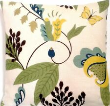 Yellow Green Gold Cushion Cover Flowers Butterflies Osborne & Little Langdale
