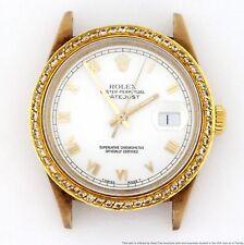 Huge 18k Gold Rolex Datejust 16238 Mens Genuine Diamond Bezel X Serial Watch