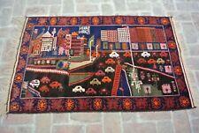 Amazing Handmade Baluch rug Best Tribal vintage Rug/Oriental Rug 5' x 3' ft