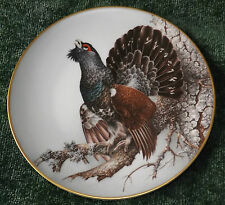 CAPERCAILLIE COLLECTORS PLATE by HAVILAND LIMOGES 1984